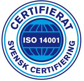 Certifierad ISO14001