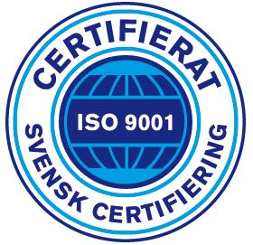 Certifierad ISO9001