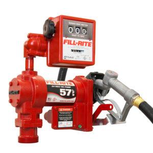 Bränslepump Fill-Rite 24V, med mätare