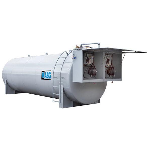 Dubbelmantlad cistern med twinskåp och regsystem
