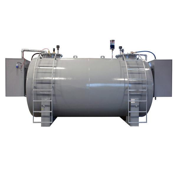 Dubbelmantlad uppdelad cistern