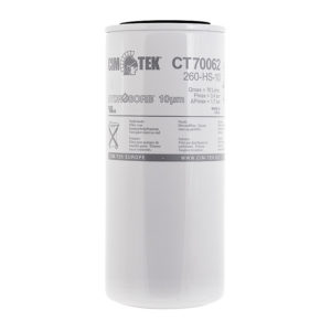Bränslefilter för diesel och bensin HYDROSORB 260HS-10 micron, CT-70062