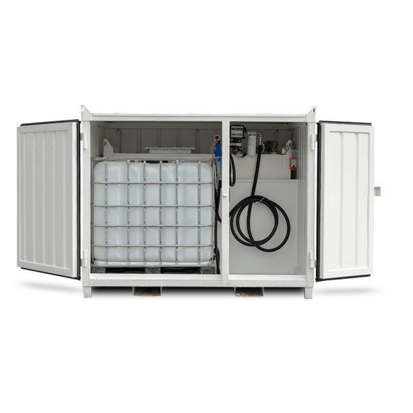 Kombi containertank med plats för 1000 liters IBC kärl