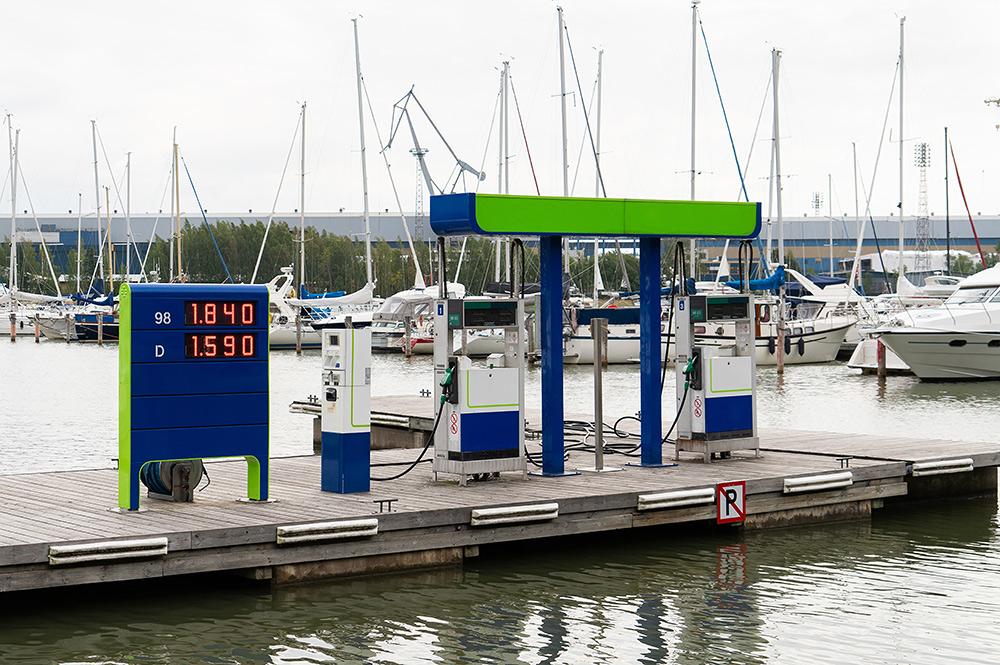 cisterner och bränslehantering för marina miljöer